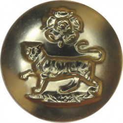 York And Lancaster Regiment 14.5mm - Gold Colour  Anodised Staybrite military uniform button