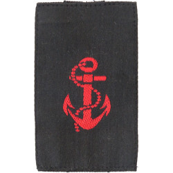 QARNNS Leading Rate Slip-On Rank Slide Red On Black  Embroidered Naval Branch, rank or miscellaneous insignia