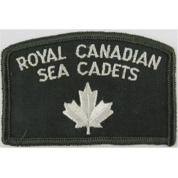 Royal Canadian Sea Cadets / Maple Leaf On Green Shoulder Title  Embroidered Naval Branch, rank or miscellaneous insignia