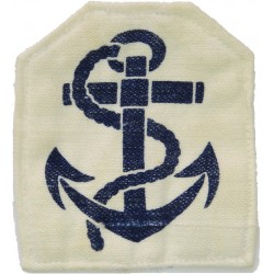 Leading Rate Rank Badge (Tombstone Shape) Blue On White  Printed Naval Branch, rank or miscellaneous insignia