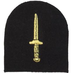 Commando Dagger (Royal Navy Commando - Rare) Gold /Navy Tombstone  Lurex Naval Branch, rank or miscellaneous insignia