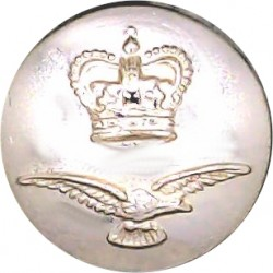Royal Air Force - Modern Domed Pattern 17mm - Screw-Fit with Queen Elizabeth's Crown. Anodised Staybrite military uniform button