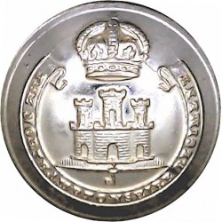 Northamptonshire Regiment 25mm - Gold Colour with King's Crown. Anodised Staybrite military uniform button