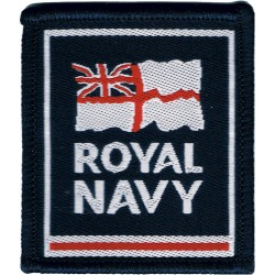 Royal Navy Small Tactical Recognition Flash Ensign / Royal Navy  Woven Naval Branch, rank or miscellaneous insignia