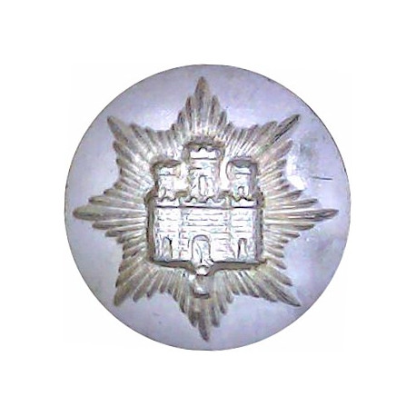 Royal Lincolnshire Regiment 26mm - Gold Colour with Queen Elizabeth's Crown. Anodised Staybrite military uniform button