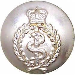 Royal Army Medical Corps 19mm - Screw-Fit with Queen Elizabeth's Crown. Anodised Staybrite military uniform button