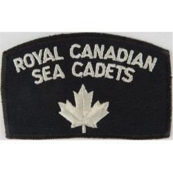 Royal Canadian Sea Cadets / Maple Leaf On Blue Shoulder Title  Embroidered Naval Branch, rank or miscellaneous insignia