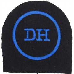 WRNS Dental Hygienist (DH In Circle) Trade: Blue On Navy  Embroidered Naval Branch, rank or miscellaneous insignia
