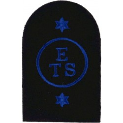 WRNS Education & Training Support (ETS Circle)+2Star Trade: Blue On Navy  Embroidered Naval Branch, rank or miscellaneous insign