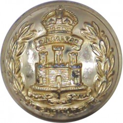 Suffolk Regiment 25.5mm - Gold Colour with King's Crown. Anodised Staybrite military uniform button