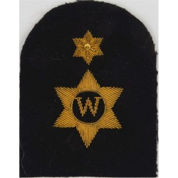 Writer (W In 6-Pointed Star) + 1 Star Trade - Gold On Navy  Bullion wire-embroidered Naval Branch, rank or miscellaneous insigni