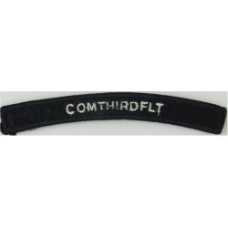 US Navy Shoulder Title - ComThirdFlt White On Navy UIM  Embroidered Naval Branch, rank or miscellaneous insignia