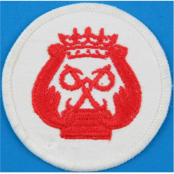 Royal Marines Prince's Badge - PP In Wreath Red On White  Embroidered Marines or Commando insignia