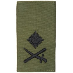 Royal Marines Major-General - Sword Pointing Left Rank Slide  Embroidered Marines or Commando insignia