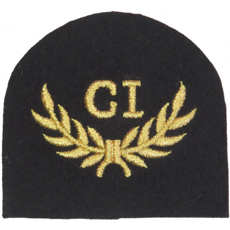 Royal Marines CI In Wreath - Combat Intelligence Trade: Gold On Navy  Lurex Marines or Commando insignia