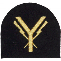 Royal Marines Communications Technician (Post-1989) Trade: Gold On Navy  Lurex Marines or Commando insignia