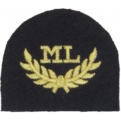 Royal Marines ML In Wreath - Mountain Leader Trade: Gold On Navy  Lurex Marines or Commando insignia