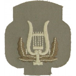 Royal Marines Band - Lyre (without Crown) Trade: On Stone  Embroidered Marines or Commando insignia