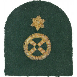 Royal Marines Steering Wheel + 1 Star: Driver Trade: Gold On Lovat  Bullion wire-embroidered Marines or Commando insignia