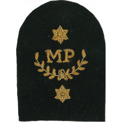Royal Marines MP In Wreath + 2 Stars: Provost Trade: Gold On Lovat  Bullion wire-embroidered Marines or Commando insignia
