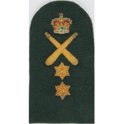 Royal Marines Crossed Clubs + Crown + 2 Stars: PTI Trade: Gold On Lovat with Queen Elizabeth's Crown. Bullion wire-embroidered M
