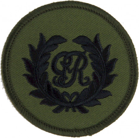 Royal Marines King's Badge - GvR In Wreath On Olive Circle  Embroidered Marines or Commando insignia
