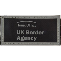 Home Office UK Border Agency Reflective Jacket Badge 100mm X 52mm Velcro  Printed Coast Guard, Customs & Excise insignia