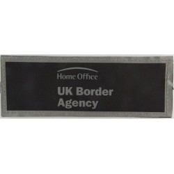 Home Office UK Border Agency Reflective Jacket Badge 140mm X 52mm Velcro  Printed Coast Guard, Customs & Excise insignia