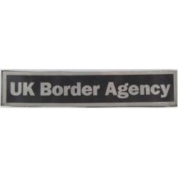 UK Border Agency Reflective Jacket Badge 250mm X 51mm Velcro  Printed Coast Guard, Customs & Excise insignia