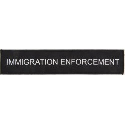 Immigration Enforcement 254mm X 50mm Velcro  Woven Coast Guard, Customs & Excise insignia