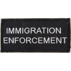 Immigration / Enforcement 100mm X 50mm Velcro  Woven Coast Guard, Customs & Excise insignia