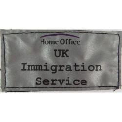 Home Office UK Immigration Service Reflective Badge 100mm X 51mm Velcro  Printed Coast Guard, Customs & Excise insignia