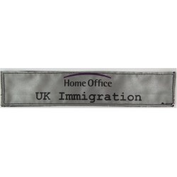 Home Office UK Immigration Reflective Jacket Badge 248mm X 51mm Velcro  Printed Coast Guard, Customs & Excise insignia