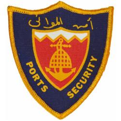 Bahrain Ports Security Shield Armbadge  Printed Coast Guard, Customs & Excise insignia