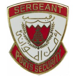 Bahrain Ports Security Sergeant Shield  Gilt and enamel Coast Guard, Customs & Excise insignia