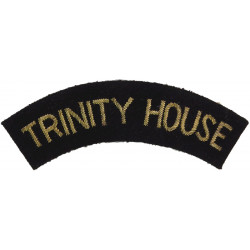 Trinity House (Lighthouse Authority) Shoulder Title Gold On Navy Blue  Bullion wire-embroidered Coast Guard, Customs & Excise in
