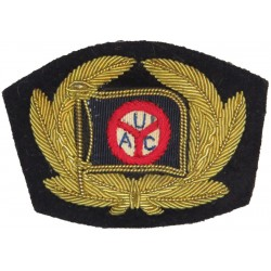 United Africa Company Shipping Company Cap Badge   Bullion wire-embroidered Merchant Navy or Shipping insignia