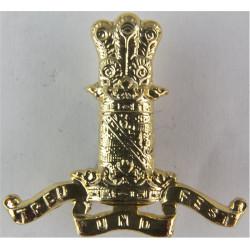 11th Hussars   Anodised Staybrite collar badge