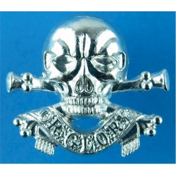 17th/21st Lancers   Anodised Staybrite collar badge