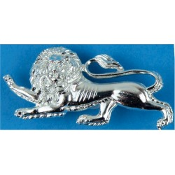 King's Own Royal Regiment (Lancaster)(Silver Colour) FL - Lion 54mm Wide  Anodised Staybrite collar badge