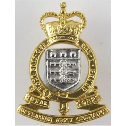 Royal Australian Army Ordnance Corps FL with Queen Elizabeth's Crown. Anodised Staybrite collar badge