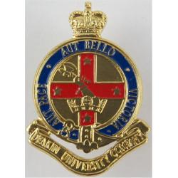 Deakin University Company - Australia Axe In Top-Left with Queen Elizabeth's Crown. Anodised and enamel Staybrite collar badge