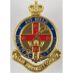 Deakin University Company - Australia Axe In Top-Right with Queen Elizabeth's Crown. Anodised and enamel Staybrite collar badge