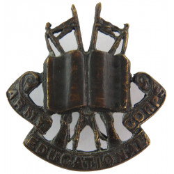 Army Educational Corps (Officers') Pre-1948 (Book)  Bronze Officers' collar badge