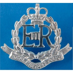 Royal Military Police  with Queen Elizabeth's Crown. Silver-plated Officers' collar badge