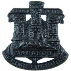 Devonshire & Dorset Regiment (Officers') FR - Sphinx & Castle  Bronze Officers' collar badge
