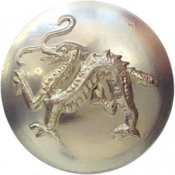 King's Own Royal Border Regiment Without China 14.5mm - Gold Colour  Anodised Staybrite military uniform button