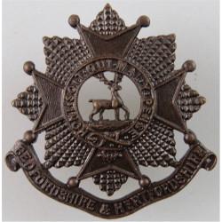 Bedfordshire & Hertfordshire Regiment FR  Bronze Officers' collar badge