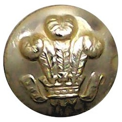 Royal Hussars (Prince Of Wales's Own) - Not Indented 14.5mm - Gold Colour  Anodised Staybrite military uniform button