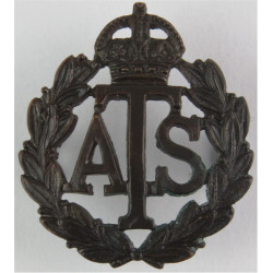 Auxiliary Territorial Service 1938-1949 with King's Crown. Bronze Officers' collar badge